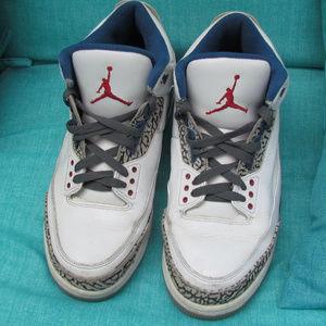 Air Jordan True Blue 3 Sz 11 great back to school!